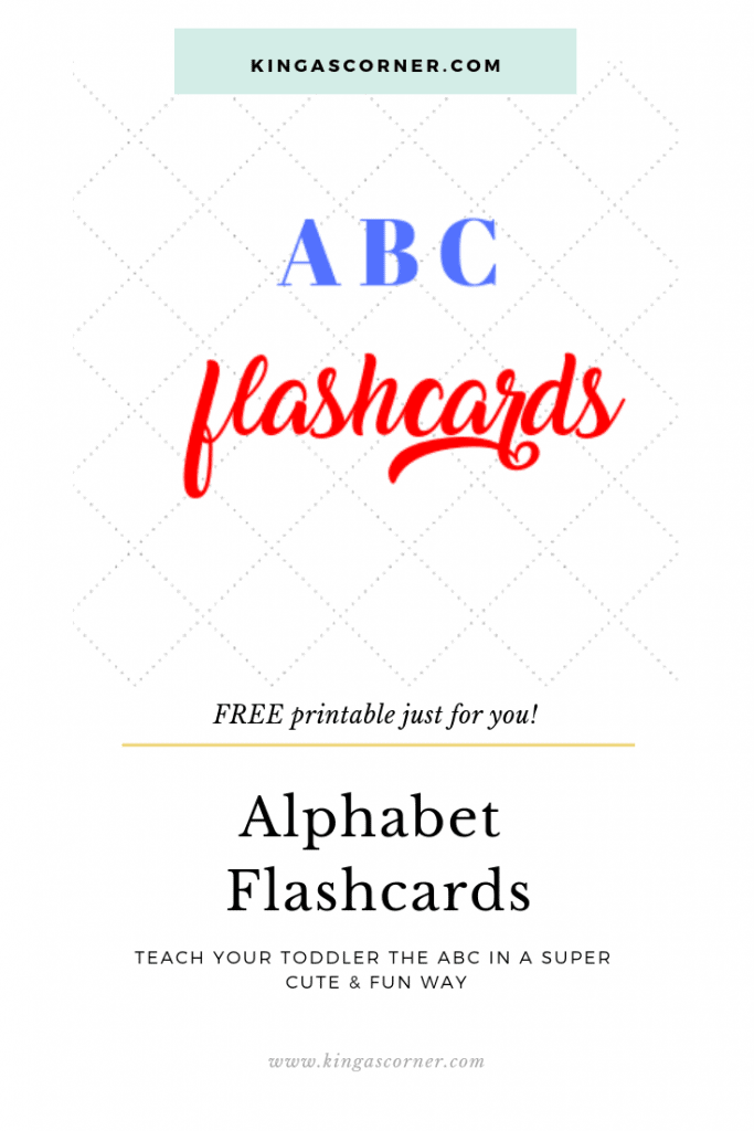 Flashcards are a great learning tool for anyone, not only for toddlers or young children. Grab these free alphabet printables and start now!