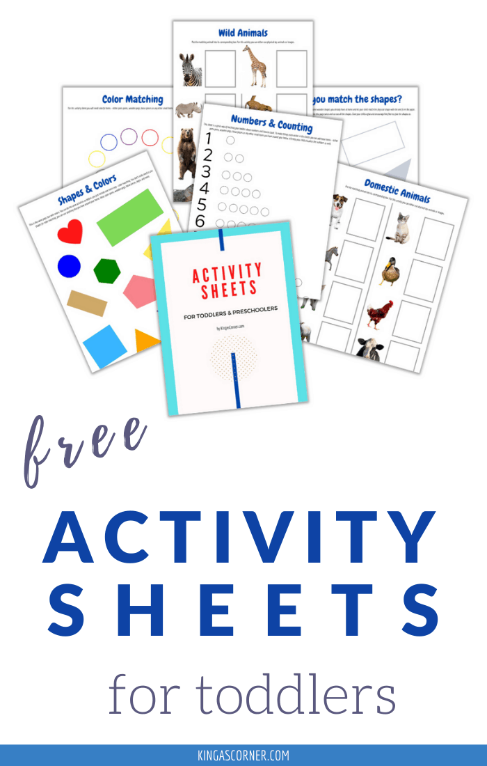 Activity Sheets for Toddlers and Preschoolers | Free Printable